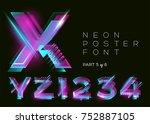 vector neon type. shining... | Shutterstock .eps vector #752887105