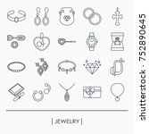 collection of jewelry outline... | Shutterstock .eps vector #752890645