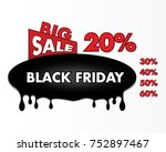 black friday background sign | Shutterstock . vector #752897467