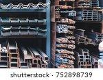 building materials warehouse ... | Shutterstock . vector #752898739