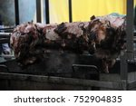 traditionally suckling pig on a ... | Shutterstock . vector #752904835