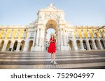 lifestyle portrait of a young... | Shutterstock . vector #752904997