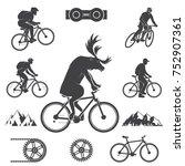 Set Of Cycling Mountain Bike...