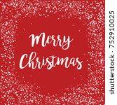 merry christmas   happy new... | Shutterstock .eps vector #752910025