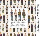young boy card | Shutterstock .eps vector #75291268