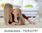 beautiful mom and daughter at...   Shutterstock . vector #752912797