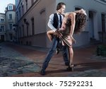 Young Couple Perform Dance...