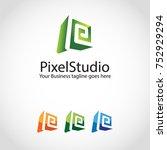 p letter template  | Shutterstock .eps vector #752929294