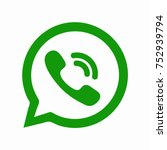 green button in the smart phone.... | Shutterstock .eps vector #752939794