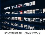 office building at night. late... | Shutterstock . vector #752949979