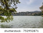 view of the town of lugano from ... | Shutterstock . vector #752952871