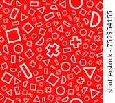 seamless pattern geometric...   Shutterstock .eps vector #752954155