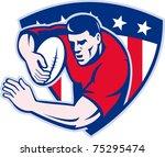 illustration of an american... | Shutterstock . vector #75295474