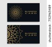 business card templates set... | Shutterstock .eps vector #752965489