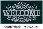 welcome lace plate. template... | Shutterstock .eps vector #752965621