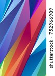 bright abstract polygonal... | Shutterstock .eps vector #752966989