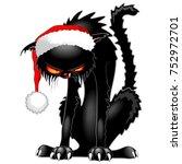 Christmas Evil Black Cat Funny...