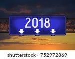 2018   signpost  roadsign | Shutterstock . vector #752972869
