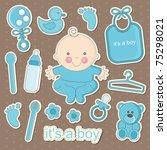 Cute Baby Elements. Vector...