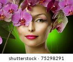 spring woman with flowers | Shutterstock . vector #75298291