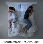 young couple sleeping in bed... | Shutterstock . vector #752993209