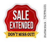 sale extended label or sticker... | Shutterstock .eps vector #752996101
