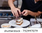 close up of tiramisu. | Shutterstock . vector #752997079