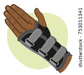 illustration depicts a wrist... | Shutterstock .eps vector #753011341