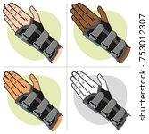 illustration represents a hand... | Shutterstock .eps vector #753012307