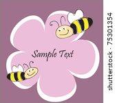 bees flying over flower | Shutterstock .eps vector #75301354
