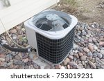 residential air conditioner unit | Shutterstock . vector #753019231