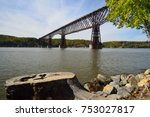 pedestrian bridge walkway over...   Shutterstock . vector #753027817
