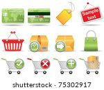 collection of icons for online... | Shutterstock .eps vector #75302917