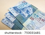 closeup of hong kong twenty... | Shutterstock . vector #753031681