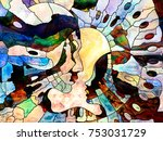 stained glass forever series.... | Shutterstock . vector #753031729