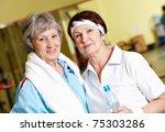 portrait of senior females... | Shutterstock . vector #75303286
