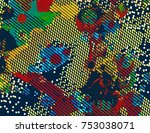 abstract vector background dot... | Shutterstock .eps vector #753038071