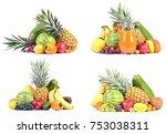 fruit on a white background | Shutterstock . vector #753038311