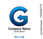 logo letter g company name | Shutterstock .eps vector #753048775