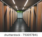 the clean toilets after... | Shutterstock . vector #753057841