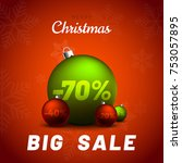 merry christmas sale background ... | Shutterstock .eps vector #753057895