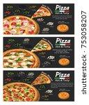 pizza pizzeria flyer vector... | Shutterstock .eps vector #753058207