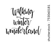 walking in a winter wonderland...   Shutterstock .eps vector #753060181