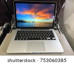 macbook used on the flight ...