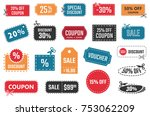 sale coupons  discount banners... | Shutterstock .eps vector #753062209