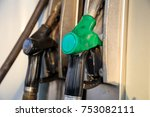 fuel pistols close up at the... | Shutterstock . vector #753082111