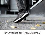 Sneakers in motion  sneakers on ...
