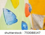 climbing wall with artificial... | Shutterstock . vector #753088147