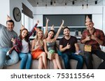 participants in the birthday... | Shutterstock . vector #753115564