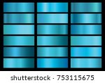 blue foil texture background... | Shutterstock .eps vector #753115675